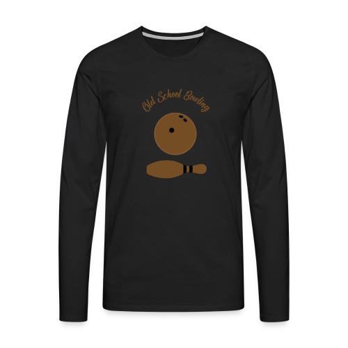 Old School Bowling - T-shirt manches longues Premium Homme