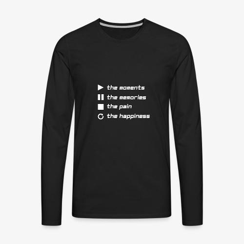 Play the Moments Stop the Pain - Männer Premium Langarmshirt