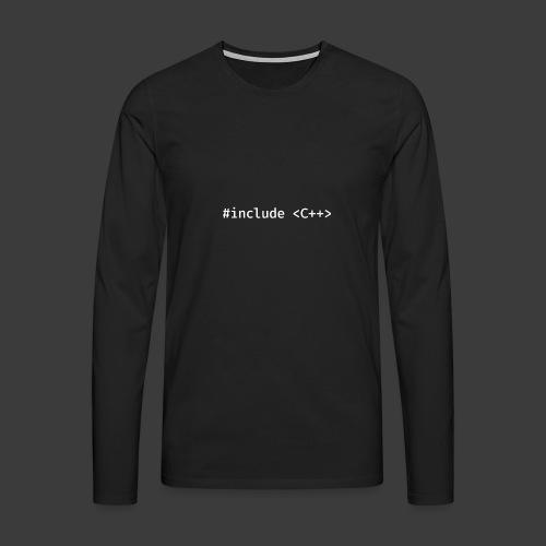 White Include Logo - Men's Premium Longsleeve Shirt
