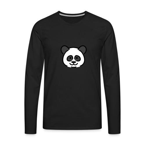 panda head / cabeza de panda - Camiseta de manga larga premium hombre