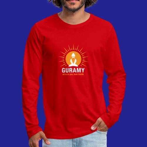 final white con scritta CORRETTO - Men's Premium Longsleeve Shirt