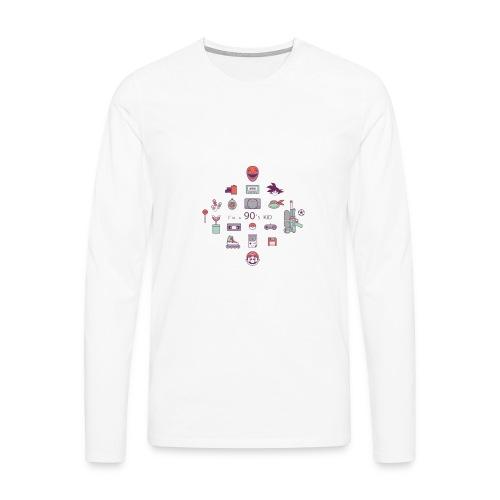 lo mejor de los 90 - Camiseta de manga larga premium hombre