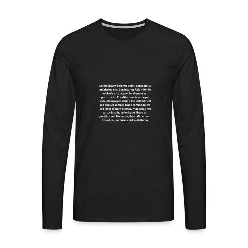 Lorem ipsum - Camiseta de manga larga premium hombre