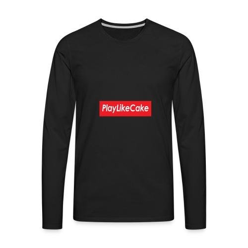 PlayLikeCake - Premium langermet T-skjorte for menn