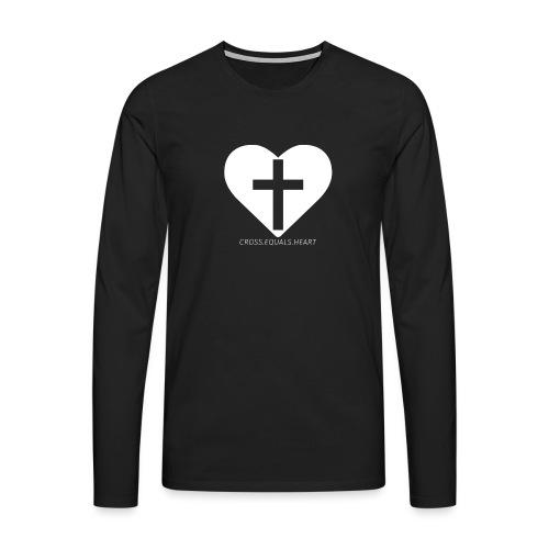 CEH_white.png - Långärmad premium-T-shirt herr