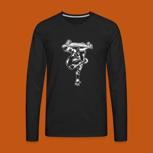 Skater / Skateboarder 03_weiß - Männer Premium Langarmshirt