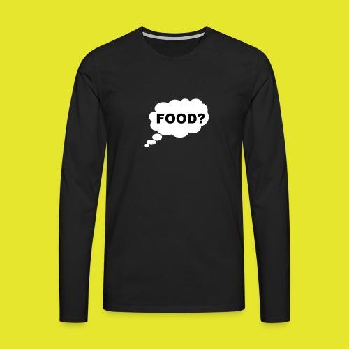 What I am thinking about - Långärmad premium-T-shirt herr