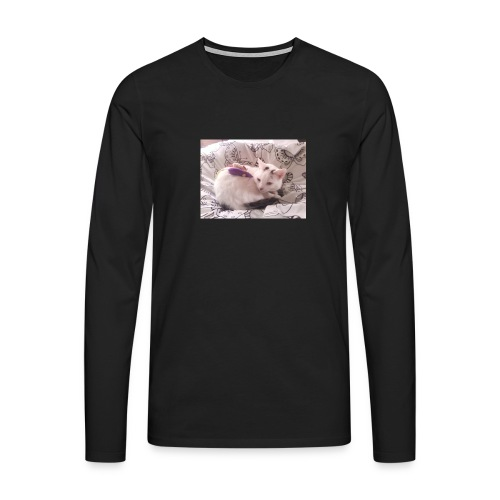 CAT SURROUNDED BY MICE AND BUTTERFLIES. - Men's Premium Longsleeve Shirt