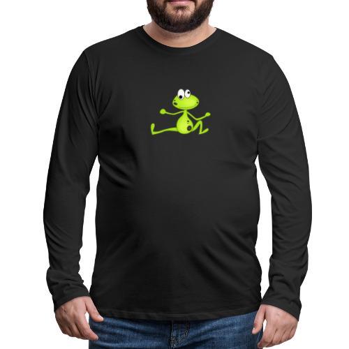 Lustiger Frosch - Männer Premium Langarmshirt