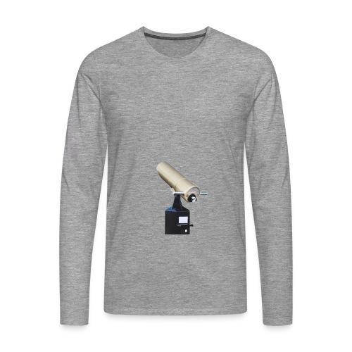 fernglas fernrohr fokus teleskop hinkucker - Männer Premium Langarmshirt