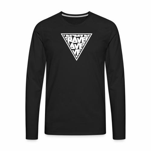 Rave MNML Minimal Logo Techno Events Symbol - Männer Premium Langarmshirt