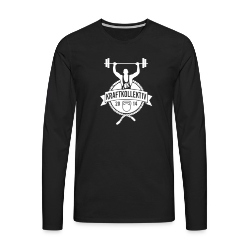 Kraftkollektiv_Logo_clean_white - Männer Premium Langarmshirt