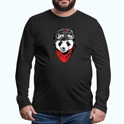 Panda pilot - Men's Premium Longsleeve Shirt