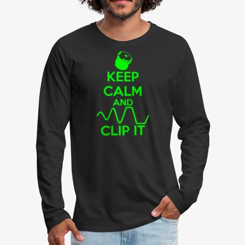 keep calm and clip it - Långärmad premium-T-shirt herr