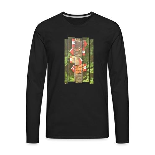 De verwarde hike - Mannen Premium shirt met lange mouwen