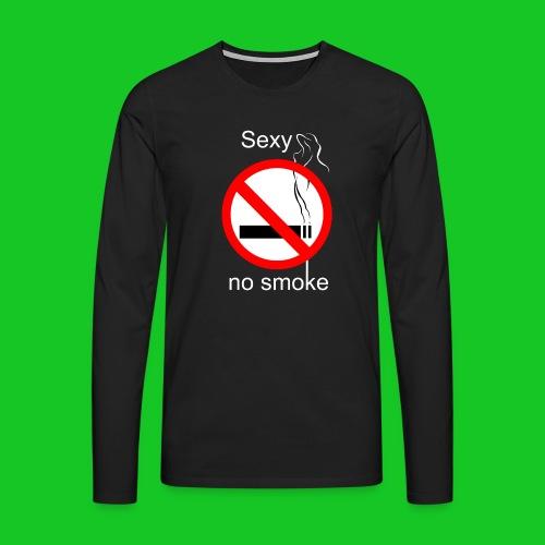 Sexy no smoke - Mannen Premium shirt met lange mouwen