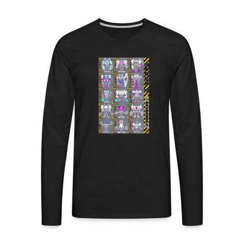 #MarchOfRobots ! NR 16-30 - Herre premium T-shirt med lange ærmer