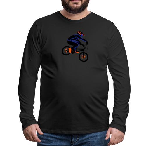 BMX Rider Dark - Mannen Premium shirt met lange mouwen