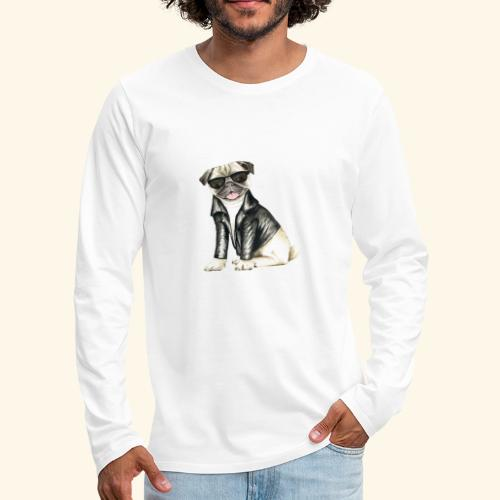 cool dog Hund Hündchen - Männer Premium Langarmshirt