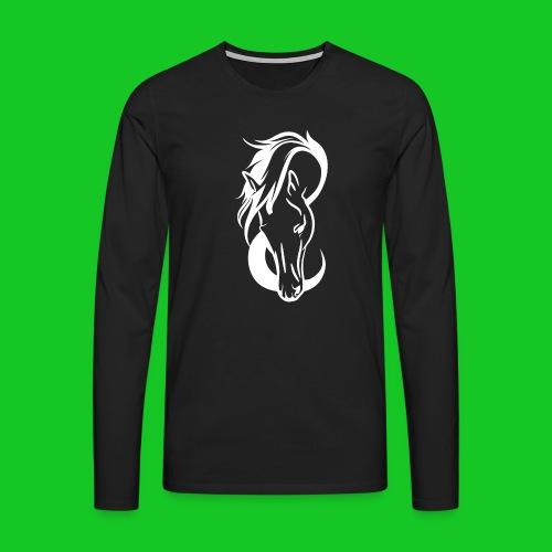 Paardenhoofd line - Mannen Premium shirt met lange mouwen