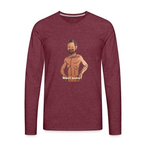 Biturzartmon Meme Want some? - Männer Premium Langarmshirt