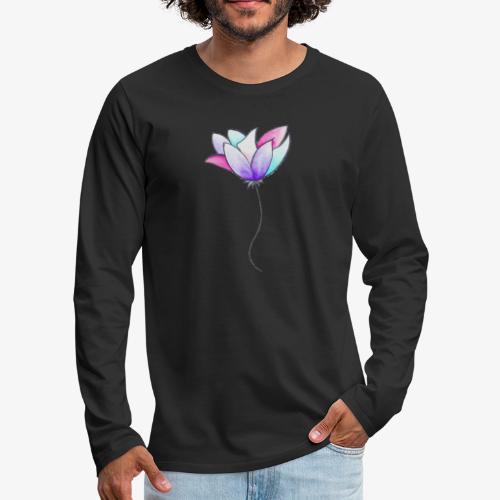 Fleur - T-shirt manches longues Premium Homme
