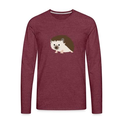 Siili - Miesten premium pitkähihainen t-paita