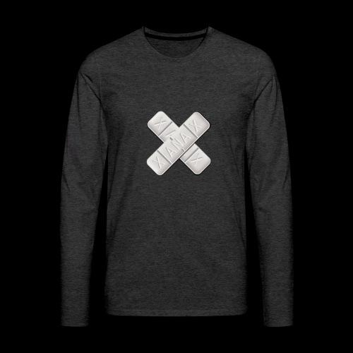 Xanax X Logo - Männer Premium Langarmshirt