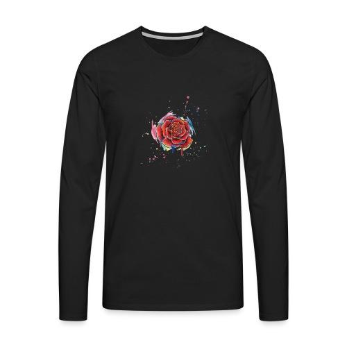 Rose Watercolors Nadia Luongo - Maglietta Premium a manica lunga da uomo