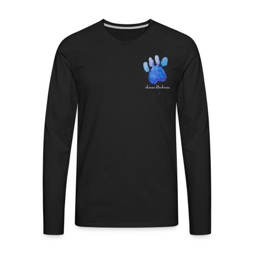 Tierfreund Choose Kindness Hundepfote Wasserfarben - Männer Premium Langarmshirt