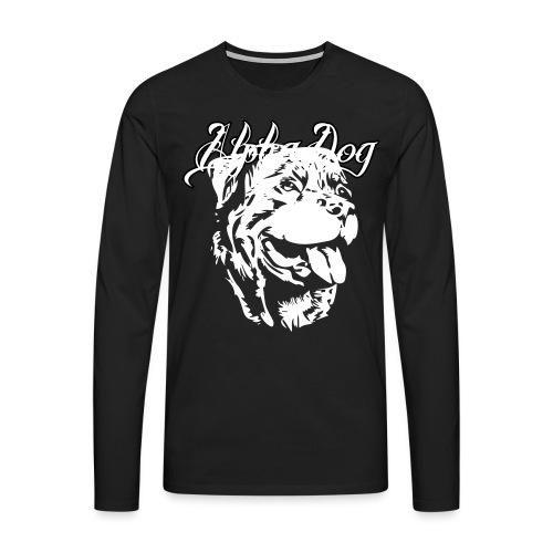Rottweiler Kopf - Männer Premium Langarmshirt