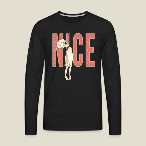 NICE - Camiseta de manga larga premium hombre