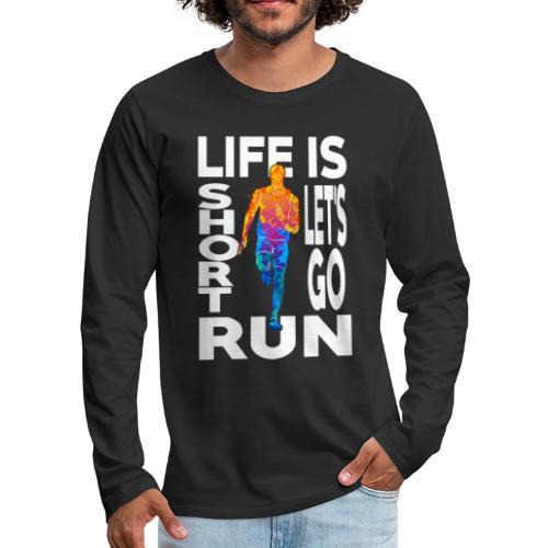 Laufsport Marathon Jogging Geschenkideen - Männer Premium Langarmshirt