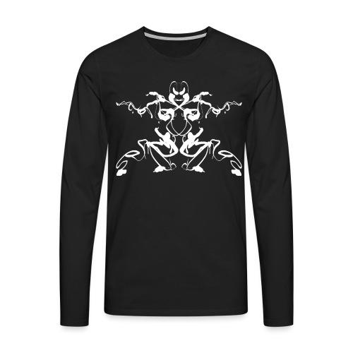 Rorschach test of a Shaolin figure Tigerstyle - Men's Premium Longsleeve Shirt