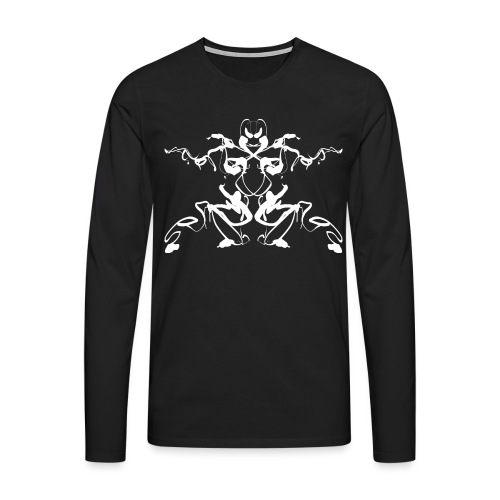 Rorschach test of a Shaolin figure Tigerstyle - Men's Premium Longsleeve Shirt