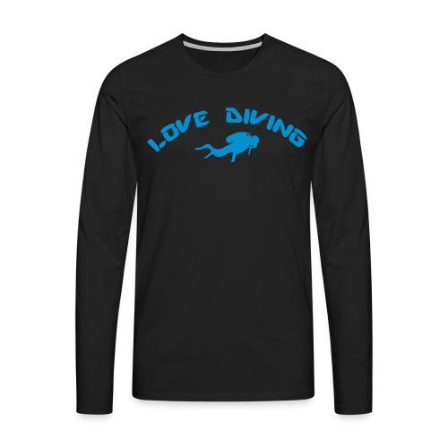 love diving - Männer Premium Langarmshirt