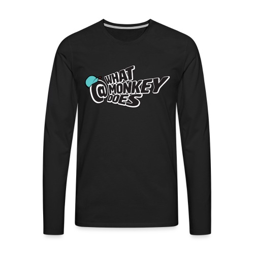 What Monkey Does Instagram Logo - Men's Premium Longsleeve Shirt