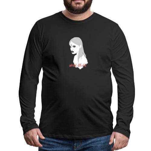 dark t shirt design female - Camiseta de manga larga premium hombre