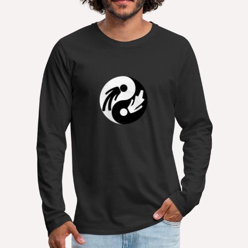 Yin Yang Man Woman - Men's Premium Longsleeve Shirt