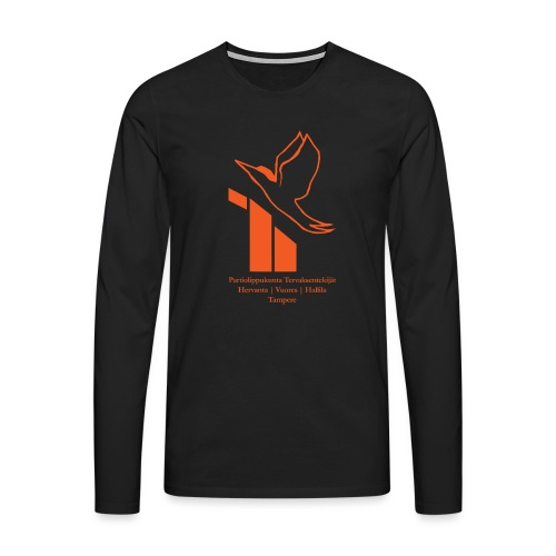 terte paitalogo - Miesten premium pitkähihainen t-paita