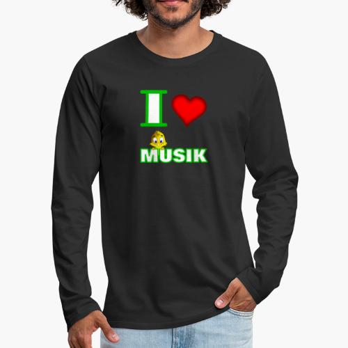 Ich liebe Musik - Männer Premium Langarmshirt