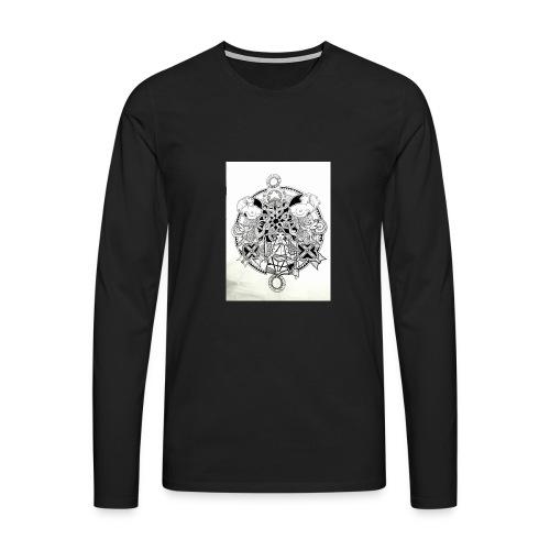 guerriere celtique entrelacs bretagne femme - T-shirt manches longues Premium Homme