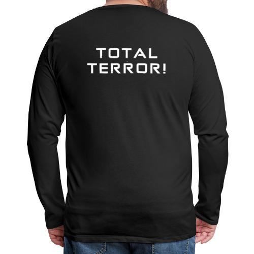 White Negant logo + TOTAL TERROR! - Herre premium T-shirt med lange ærmer
