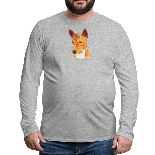 Basenji - Herre premium T-shirt med lange ærmer