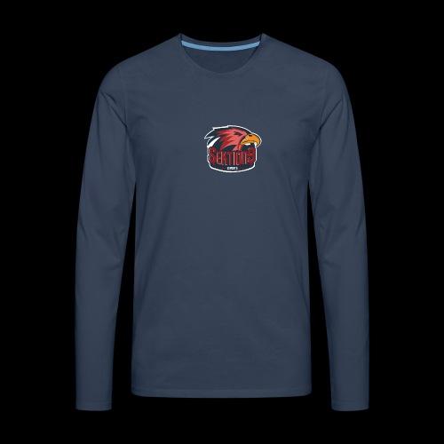 Sektion9 logo Rot - Männer Premium Langarmshirt