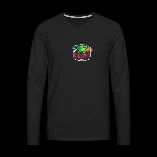 Sektion9 Logo Grün - Männer Premium Langarmshirt