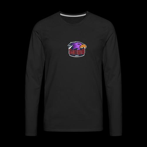 Sektion9 logo lila - Männer Premium Langarmshirt