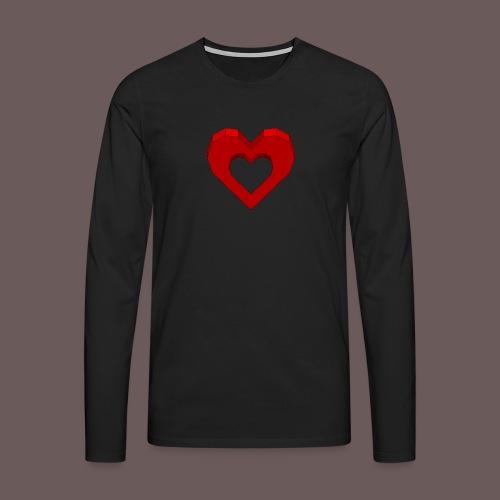 Heart Illusion - Herre premium T-shirt med lange ærmer