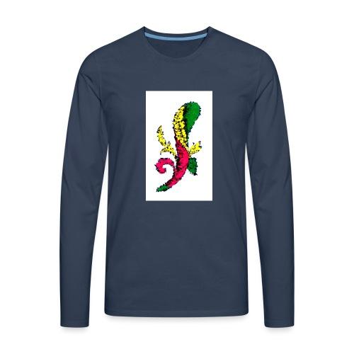 Asso bastoni - Maglietta Premium a manica lunga da uomo