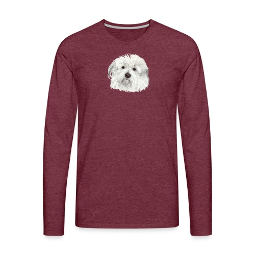 coton-de-tulear - Herre premium T-shirt med lange ærmer